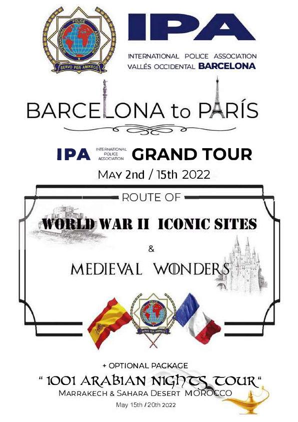 Barcelona to Paris tour 2022 (E)