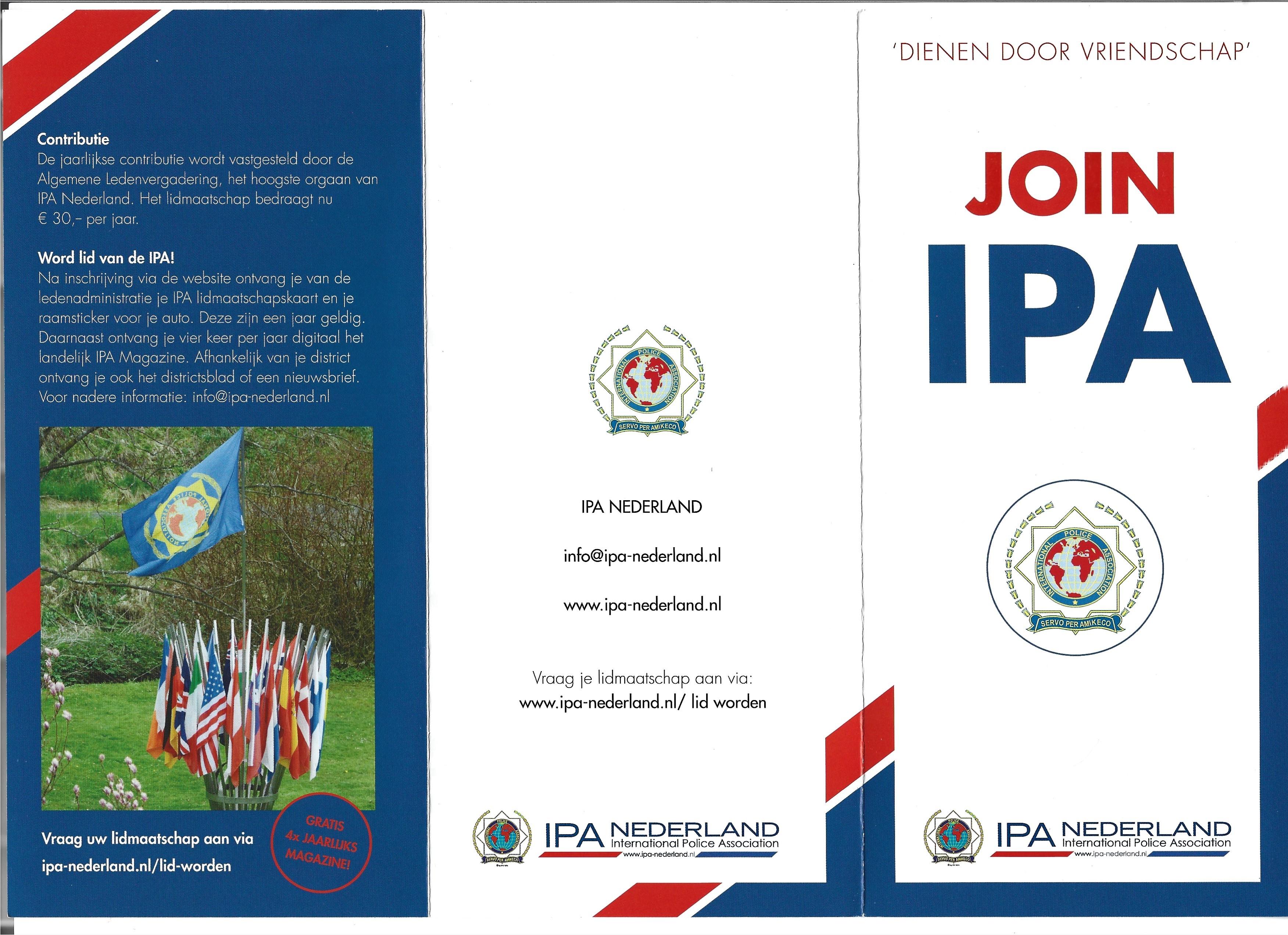 De nieuwe IPA wervingsfolder 2021